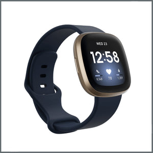 Fitbit Versa 3 Strap - Infinity Silicone - Midnight Blue