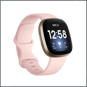 Fitbit Versa 3 Strap - Infinity Silicone - Pink Sand