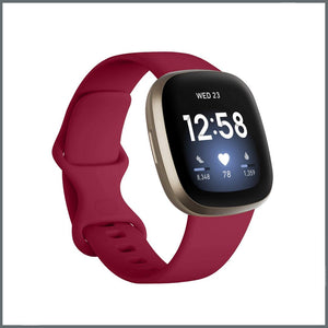 Fitbit Versa 3 Strap - Infinity Silicone - Ruby Red