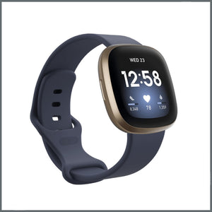 Fitbit Versa 3 Strap - Infinity Silicone - Steel Blue