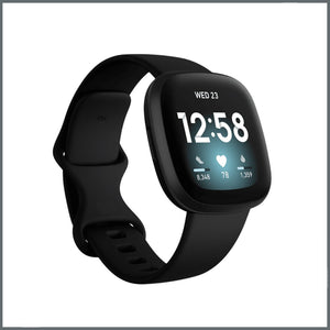 Fitbit Versa 3 Strap - Infinity Silicone - Black
