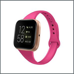 Fitbit Versa Strap - Dainty Silicone - Barbie Pink