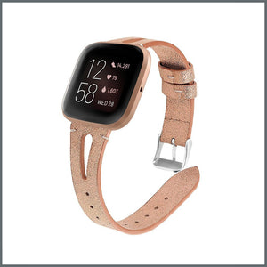 Fitbit Versa Strap - Delicate Leather - Rose Gold