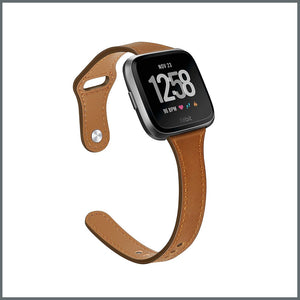 Fitbit Versa Strap - Dainty Active Leather - Tan