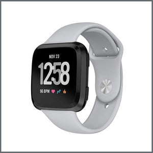 Fitbit Versa Classic Silicone Strap  - Cloudy Grey
