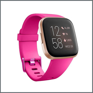 Fitbit Versa Classic Buckle Silicone Strap - Barbie Pink