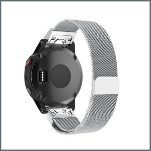 Garmin Quick Fit Strap - Mesh Loop - Silver