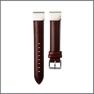 Garmin Quick Fit Strap - Traditional Leather - Reddish Brown