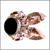Quick Release Strap - Scrunchie with Bow - Pink Cheetah