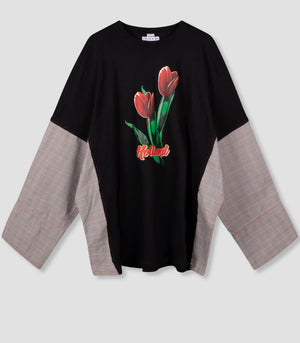 'SDW Invaded Tulip-T' Distorted Classic Shirt Sleeve