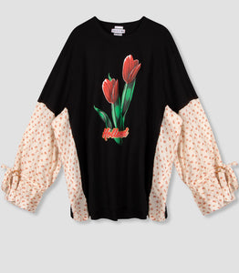 'SDW Invaded Tulip-T' ruffle sleeve