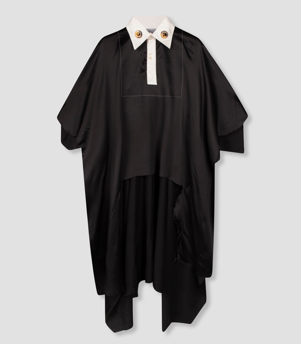 'SDW Last Meter Cape' Silk Black