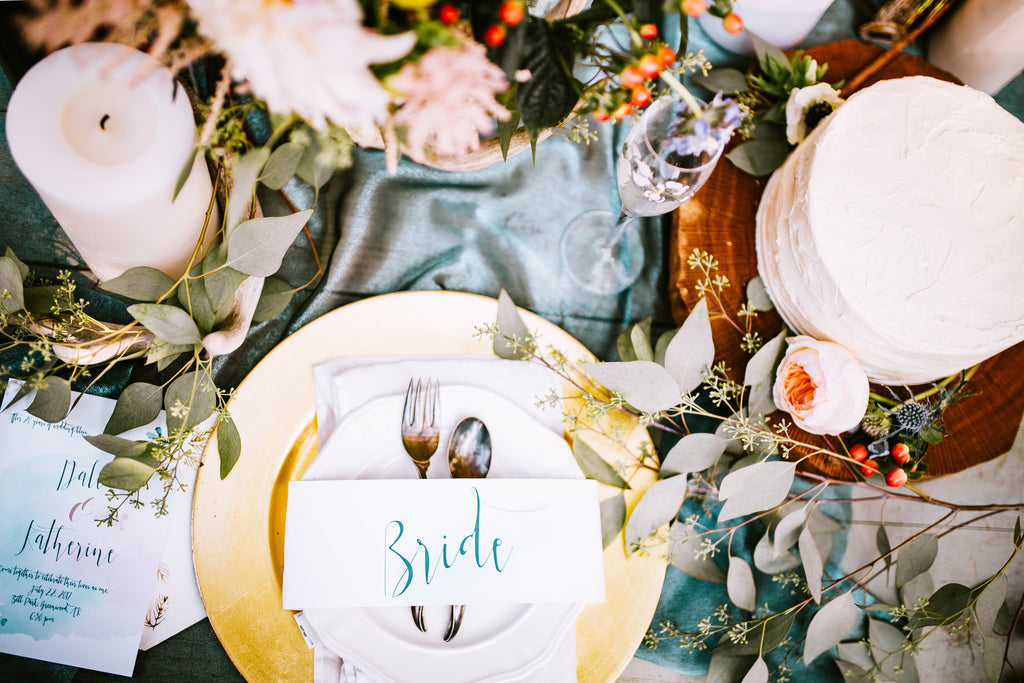 Rustic Spring Wedding Tablescape Ideas