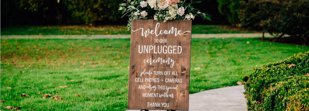 Wooden unplugged Welcome Wedding Sign