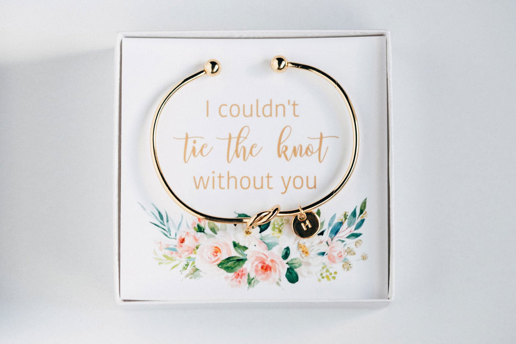 """I couldn't Tie The Knot Without You"" Bracelet - Proposal Gift #BC005"