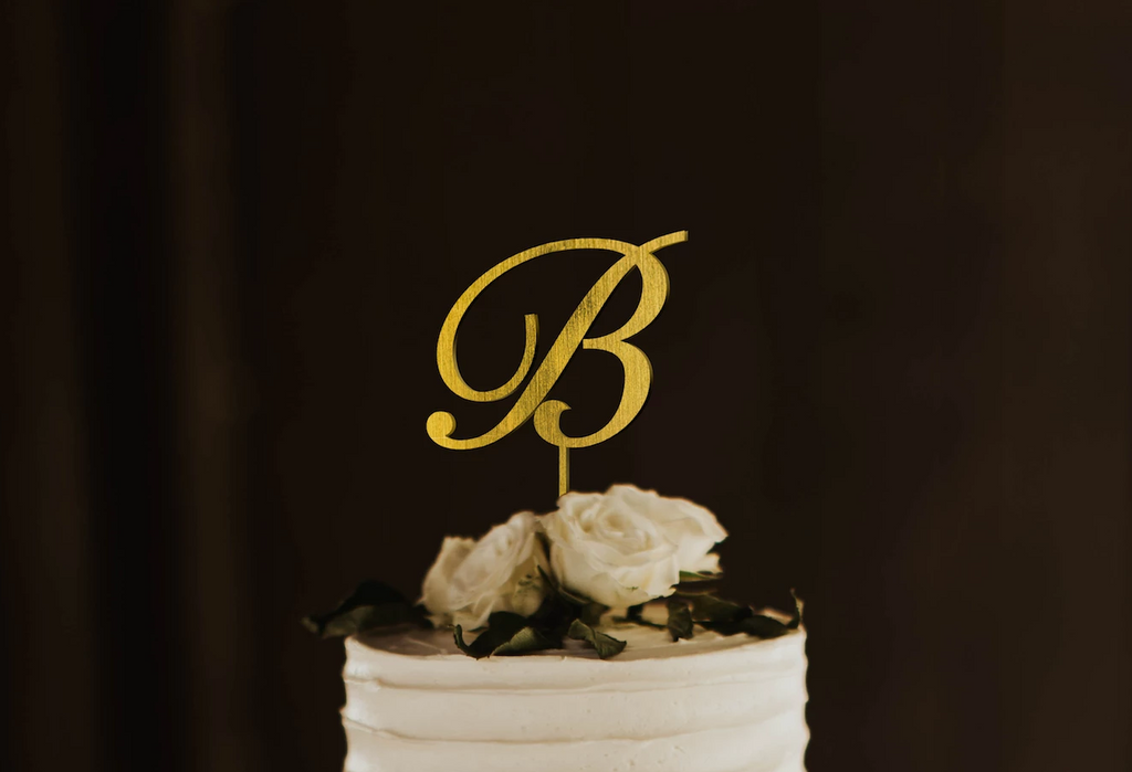 Personalized Single Monogram Cake Topper