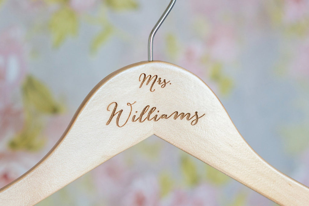 Personalized Wooden Bridal Hanger #HG101