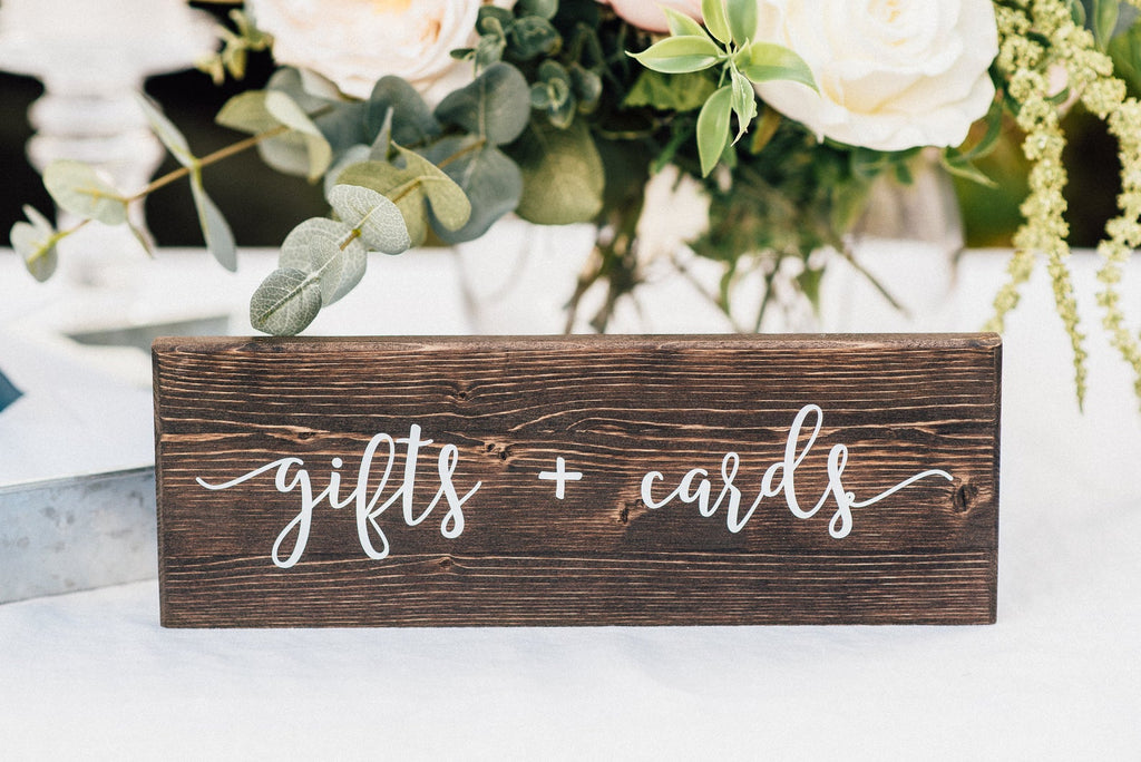 Gifts and Cards Wedding Table Sign