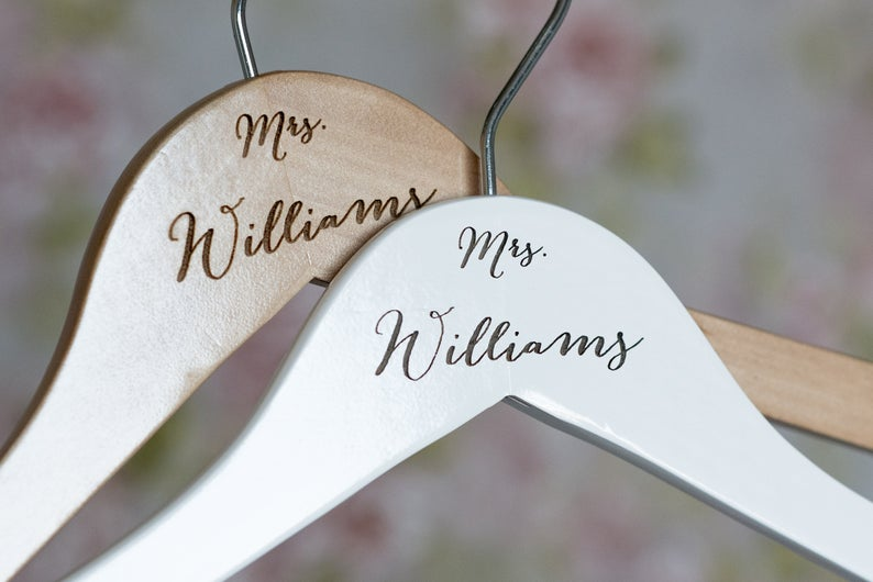 Personalized Wooden Bride Hanger #HG101