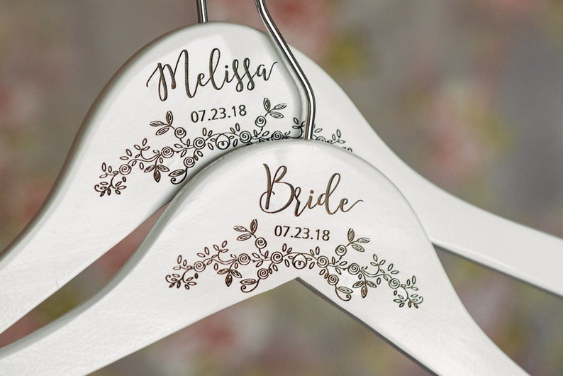 Personalized Engraved Wooden Hangers #HG106