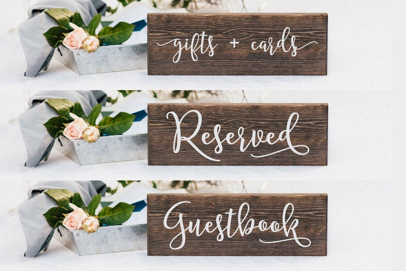 Guestbook Wedding Table Sign