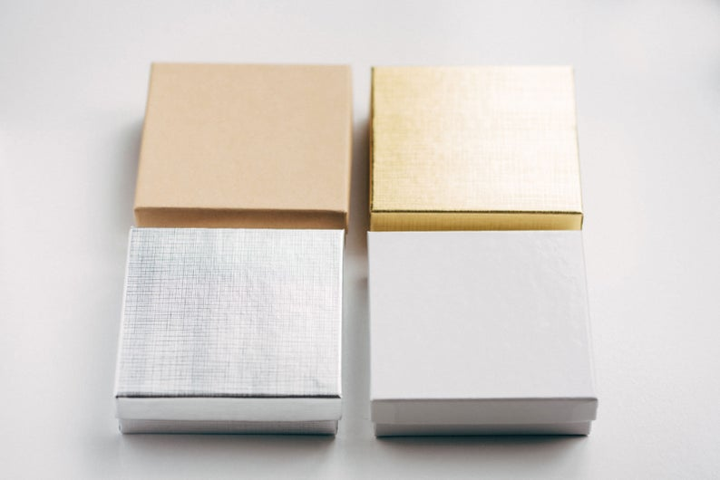 Bridesmaid proposal bracelet boxes in colors gold, silver, and rose gold