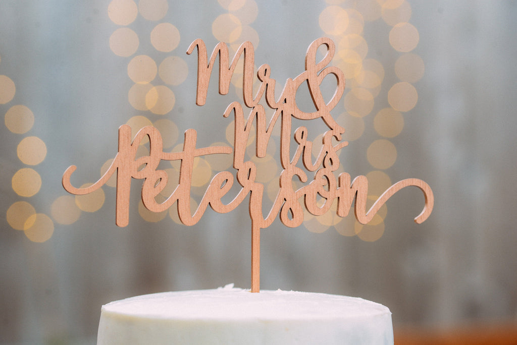 Mr And Mrs Cake Topper #03