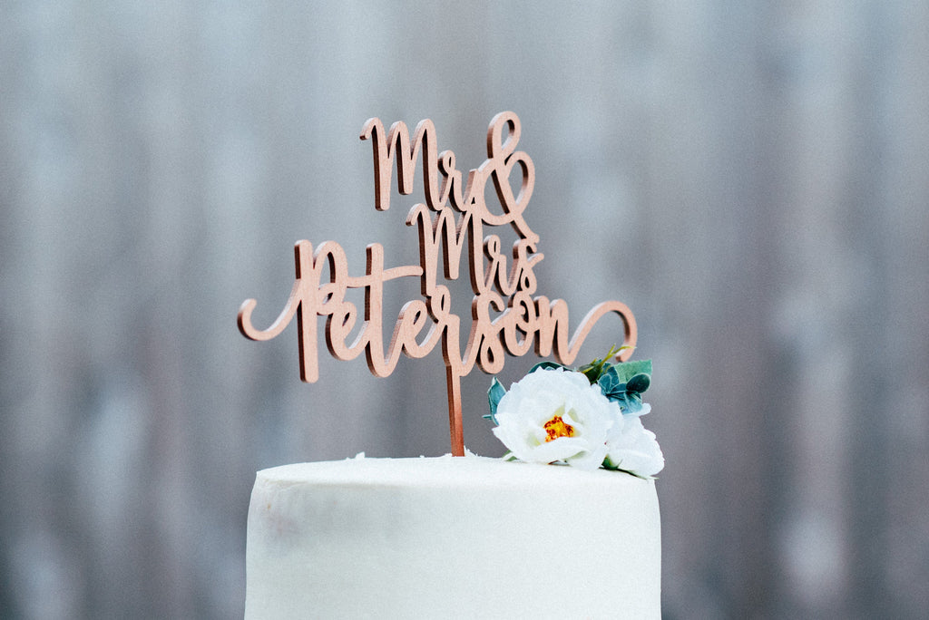 Mr And Mrs Cake Topper - #01