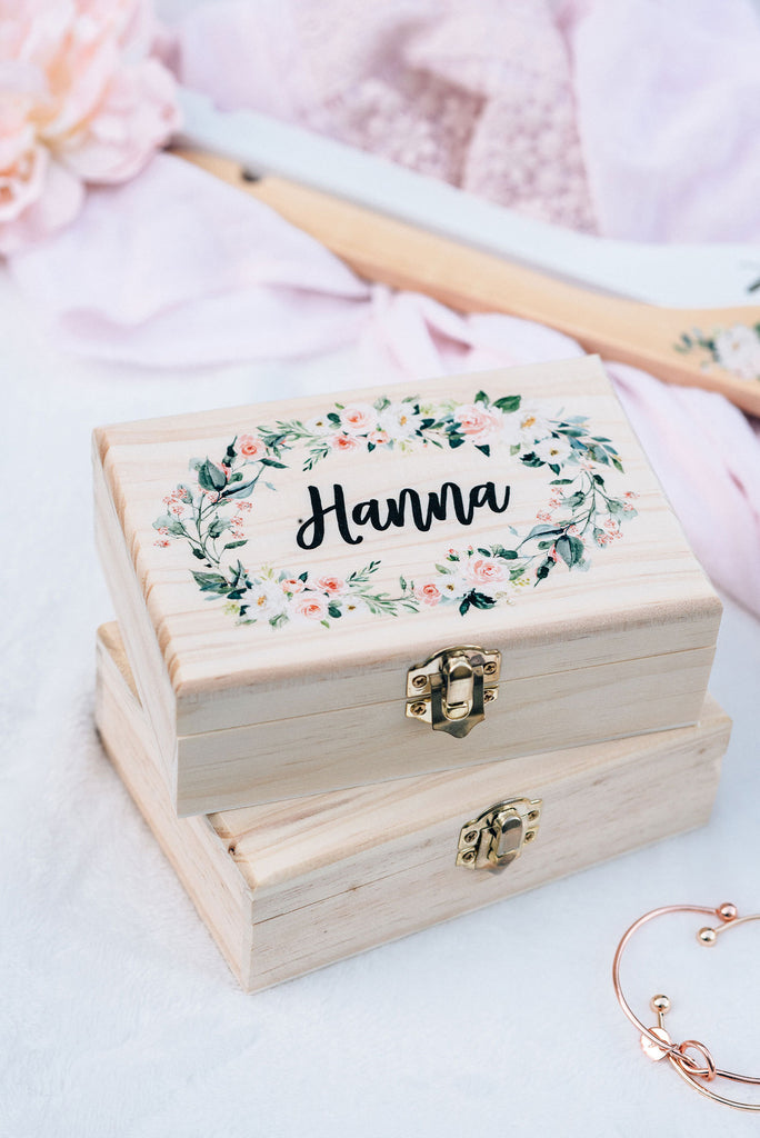 Flower Wooden Gift Box #WB001