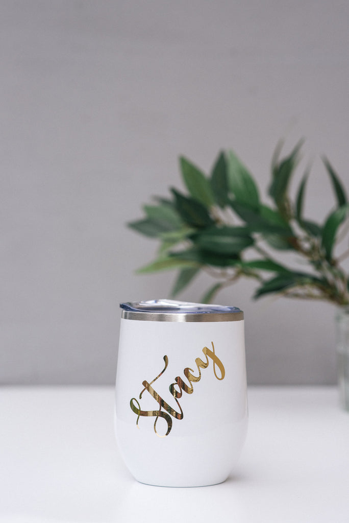 Custom Bridesmaid  Wine Tumbler