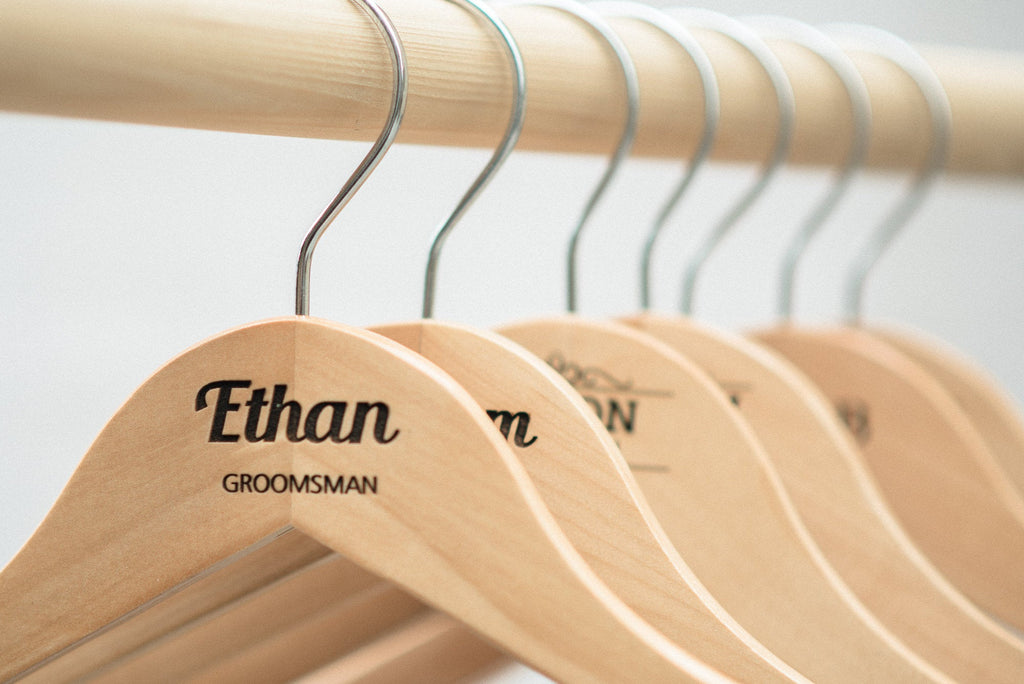 Personalized Groomsmen Wooden Hangers - HG108