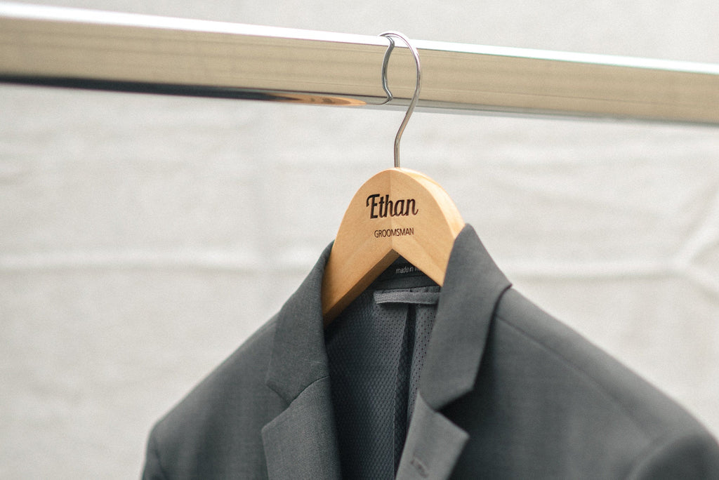 Groomsman personalized wooden hangers