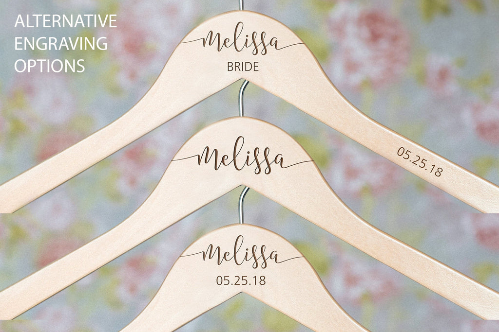 Customizable and Personalized Wooden Bridesmaid Hangers