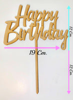 Cake Topper en Madera MDF. Happy Birthday