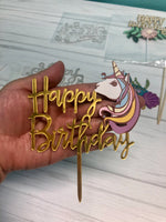 Anuncio Happy B-day unicornio