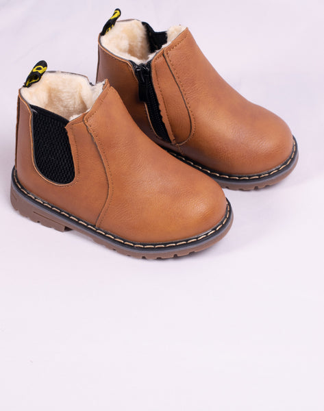 Fur Lined Leather Boots (2 Colours Available)