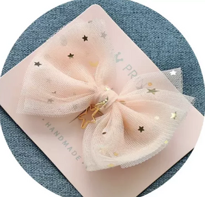 Peach Star Detailed Bow Slides (Pack of 2)
