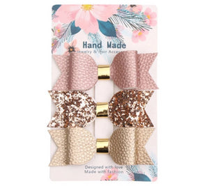 Gold Detailed Hair Slides (Pack of 3)
