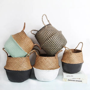Rattan/ wicker children's storage baskets (multiple colours)