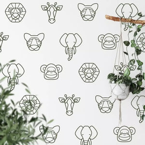 Animal wall stickers (multiple colours)