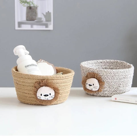 Animal woven baskets