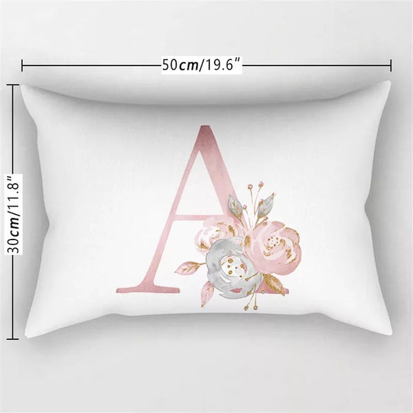 Initial Pillow Case Cover