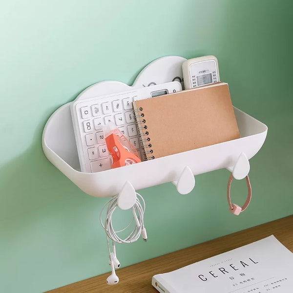 Children's cloud bathroom tidy (multiple colours)
