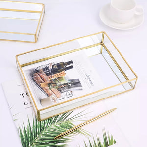 Gold trimmed display tray