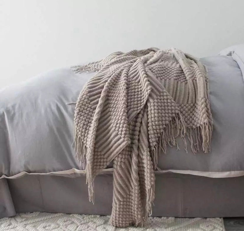 Nordic style blanket (multiple size and colour options)