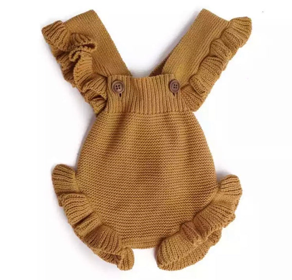 Girls Knitted Baby Romper