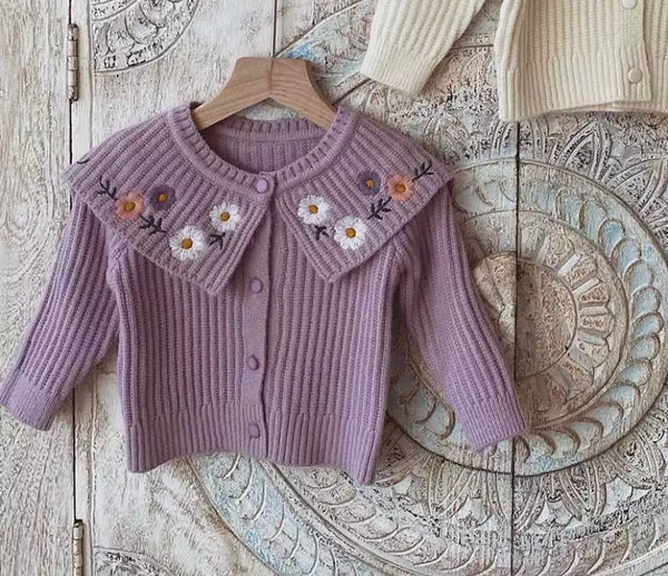 Flower Embroidery Cardigan