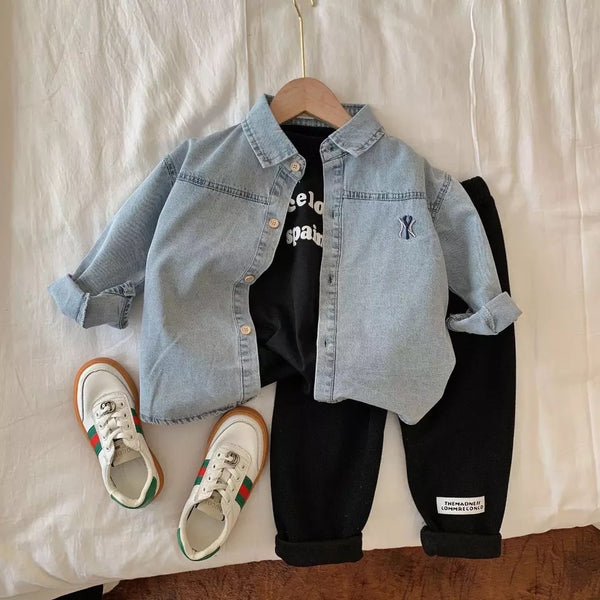 Embroided denim jacket