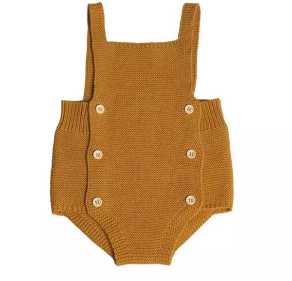 Boys Knitted Baby Romper