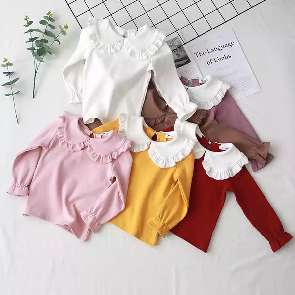 Petal Collar long sleeved T-shirt